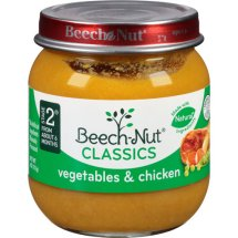Beech-Nut Stage 2 Vegetables & Chicken Baby Food, 4 oz