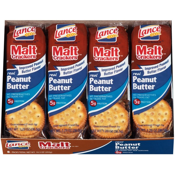 Lance Malt Crackers with Real Peanut Butter Sandwich Crackers
