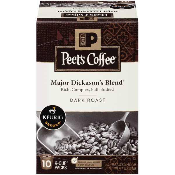Peet's Coffee & Tea Major Dickason's Blend Dark Roast K-Cups