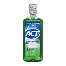 ACT Mint Anticavity Flouride Mouthwash, 18 oz.