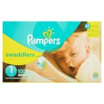 Pampers Swaddlers Diapers, Size 1, 100 Diapers