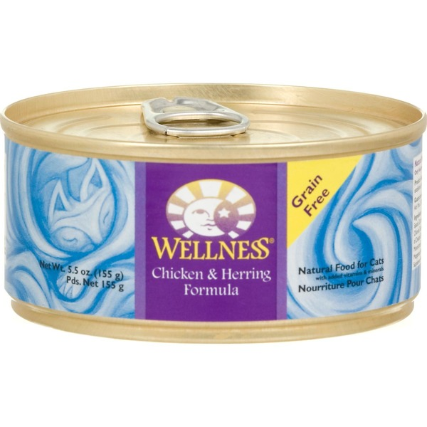 Wellness Food for Cats, Chicken & Herring Formula