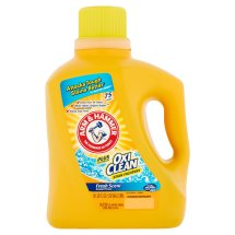 Arm & Hammer Plus The Power of OxiClean Stain Fighters Fresh Scent Detergent, 75 loads, 131.25 fl oz