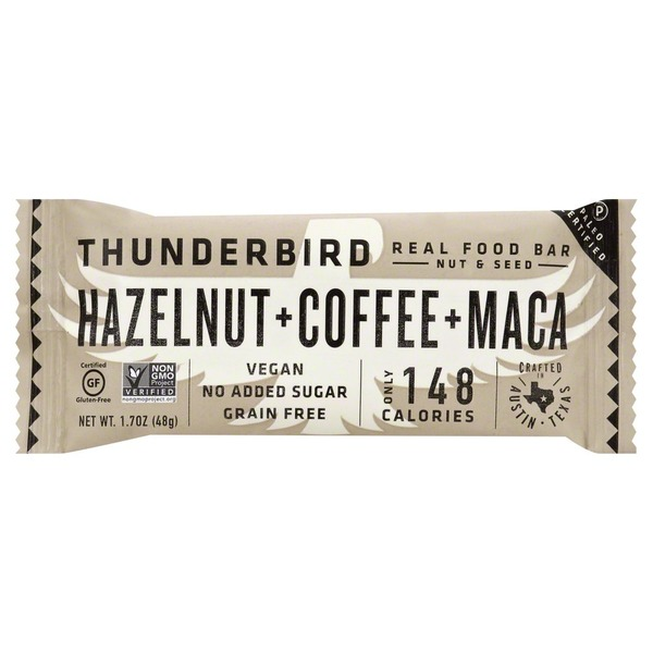 Thunderbird Food Bar, Hazelnut + Coffee + Maca, Wrapper