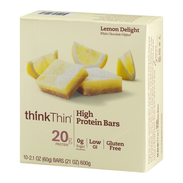 thinkThin High Protein Bars Lemon Delight - 10 CT