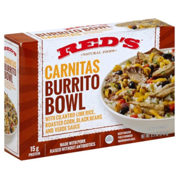 Red's Pork Carnitas Burrito Bowl