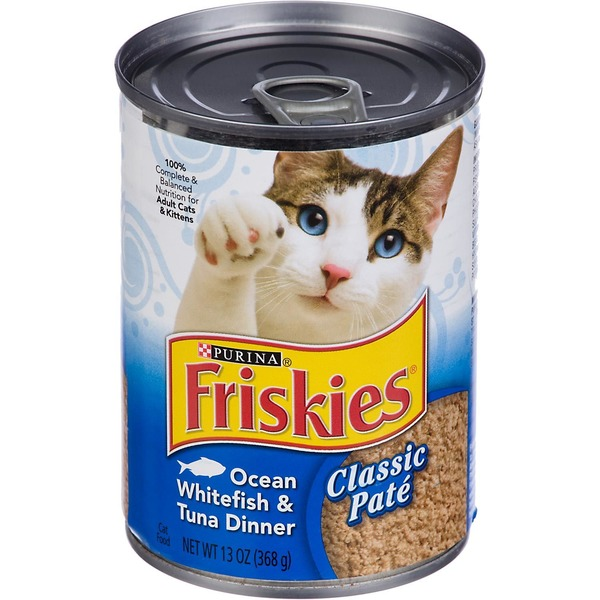 Friskies Classic Pate Ocean Whitefish & Tuna Dinner Cat Food