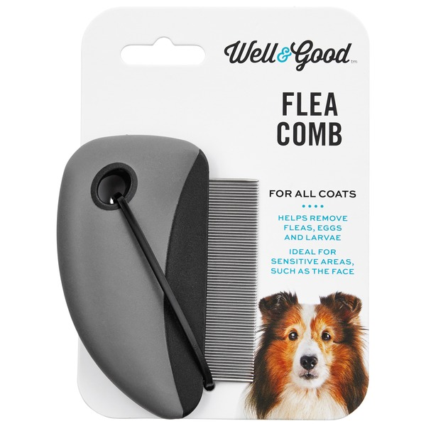 Well & Good Flea Comb Black