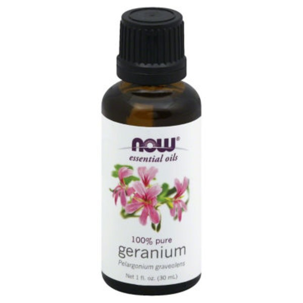 Now Essential Oils, 100% Pure, Geranium, Bottle