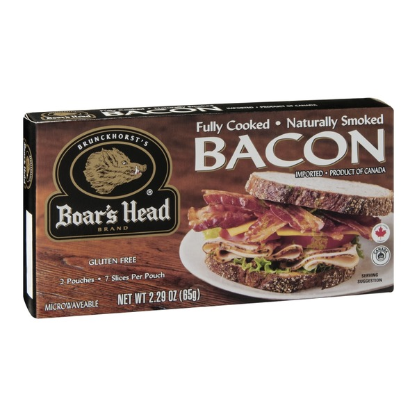 Boar's Head Fully Cooked Naturally Smoked Bacon