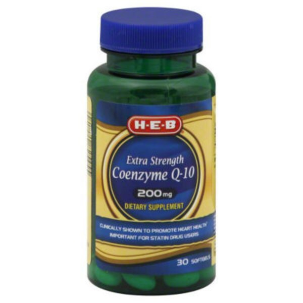 H-E-B Extra Strength Coenzyme Q 10 200 Mg 30 Soft Gels
