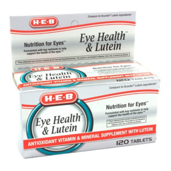 H-E-B Anti Oxidant Vitamin With Lutein Tablets