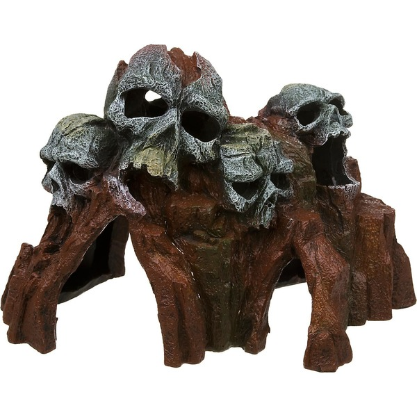 Blue Ribbon Pet Products Skull Mountain Medium Aquarium Ornament