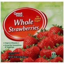 Great Value Whole Strawberries, 16 oz