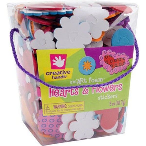 Creative Hands Sm'Art Foam Hearts & Flowers Stickers Kit