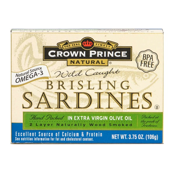 Crown Prince Natural Brisling Sardines in Extra Virgin Olive Oil