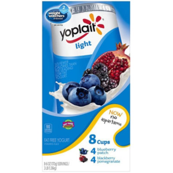 Yoplait Light Blackberry Pomegranate/Blueberry Patch Variety Pack Fat Free Yogurt