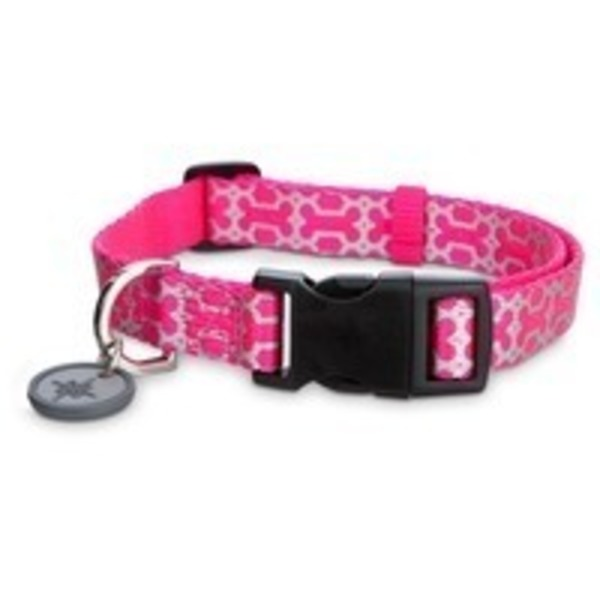Good2 Go Small Pink Reflective Bone Print Dog Comfort Collar
