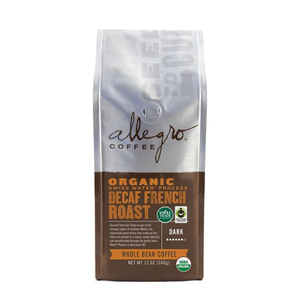 Allegro Decaf Organic French Roast Ground Coffee