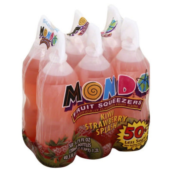 Mondo Squeezers Kiwi Strawberry Splash - 6 CT