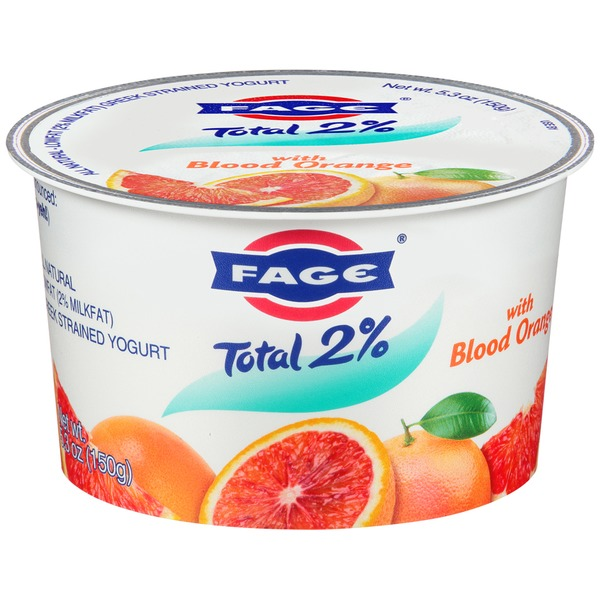 Fage Total 2% with Blood Orange Lowfat Greek Strained Yogurt
