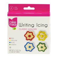 Cake Mate Writing Icing Classic Colors - 4 CT