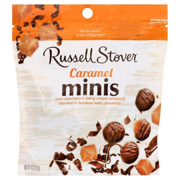 Russell Stover Caramel, Milk Chocolate, Minis