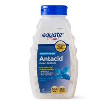 Equate Regular Strength Antacid Chewable Peppermint Tablets, 500 mg, 150 Ct