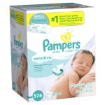 Pampers Sensitive Baby Wipes (Choose Your Count)