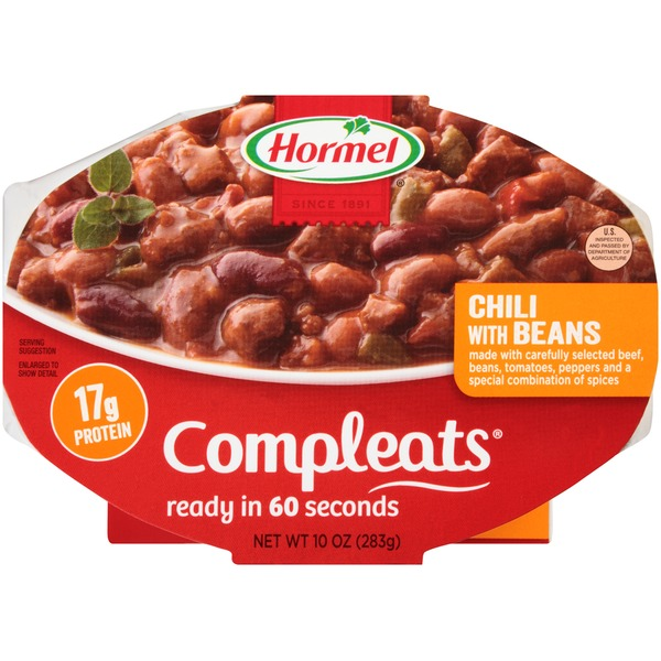 Hormel Chili with Beans Compleats