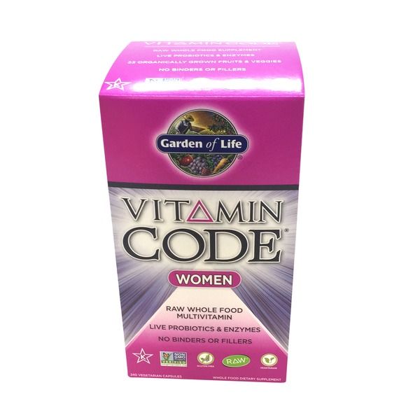 Garden of Life Vitamin Code Women's Multivitamin Vegetarian Capsules