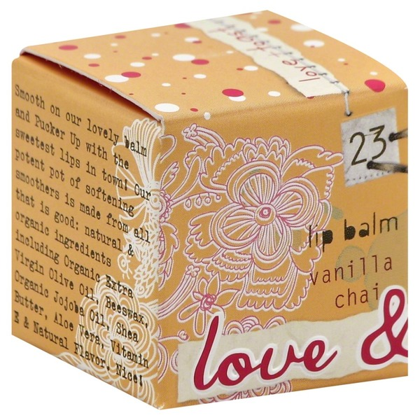 Love & Toast Lip Balm, Vanilla Chai, Box