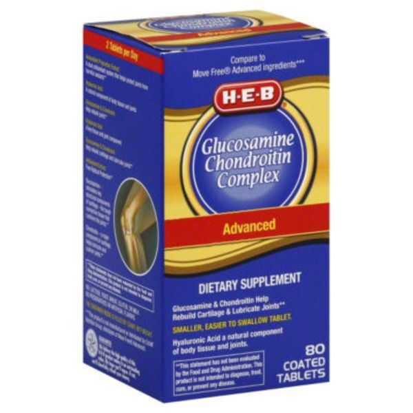 H-E-B Advanced Glucosamine Chondroitin Complex With Hla