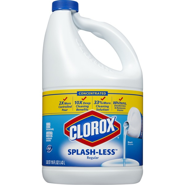 Clorox Concentrated Splash-Less Regular Bleach