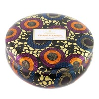 Voluspa Japonica Collection, 3 Wick Candle in Decorative Tin, Crane Flower