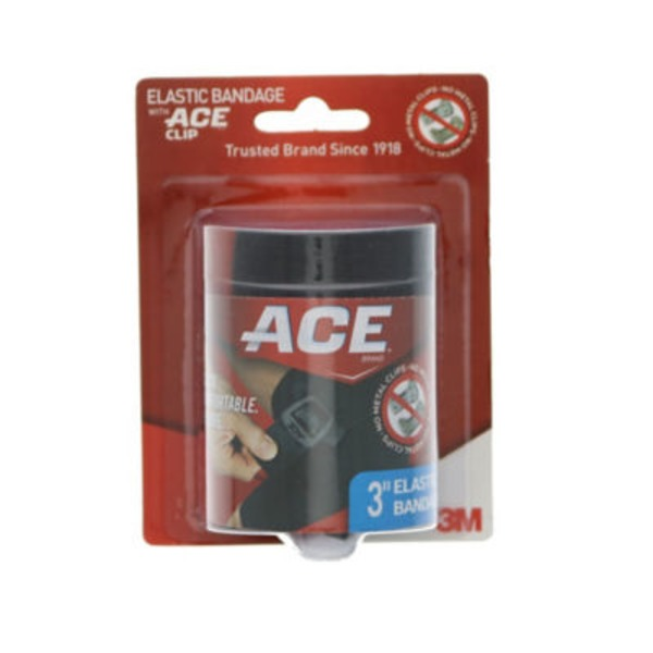 America's Choice Black Elastic Bandage With Ace Clip