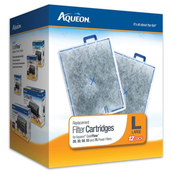 Aqueon Replacement Filter Cartridges Pack Of 12 Cartridges