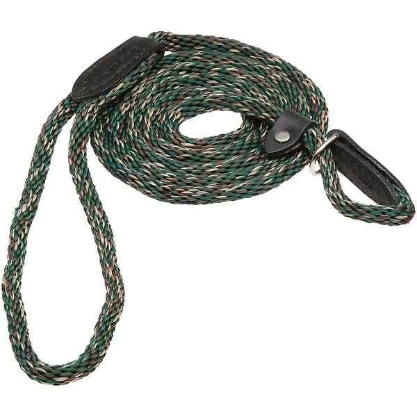 Hamilton London Quick Green Braid Dog Collar & Leash Combo 6' L X 5/16