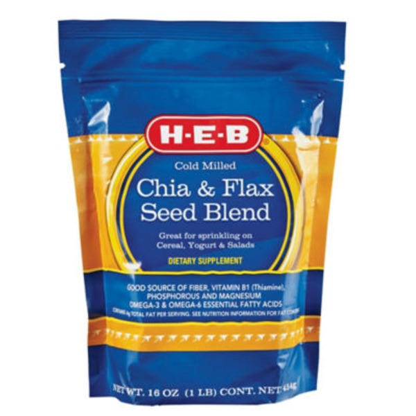 H-E-B Cold Milled Chia & Flax Seed Blend