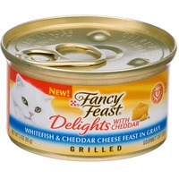 Fancy Feast Delights Grilled Whitefish & Cheddar Cheese Feast Cat Food