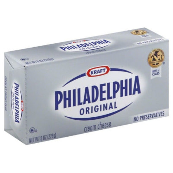 Kraft Philadelphia Original Base and Winter Seasonal Cream Cheese