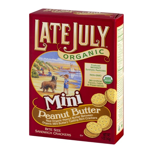 Late July Organic Mini Sandwich Crackers Peanut Butter