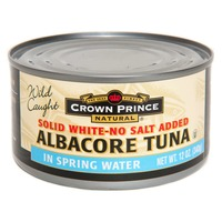 Crown Prince Natural Solid White-No Salt Added Albacore Tuna In Spring Water