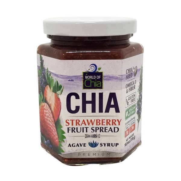World of Chia Fruit Spread, Chia, Strawberry, with Agave Syrup