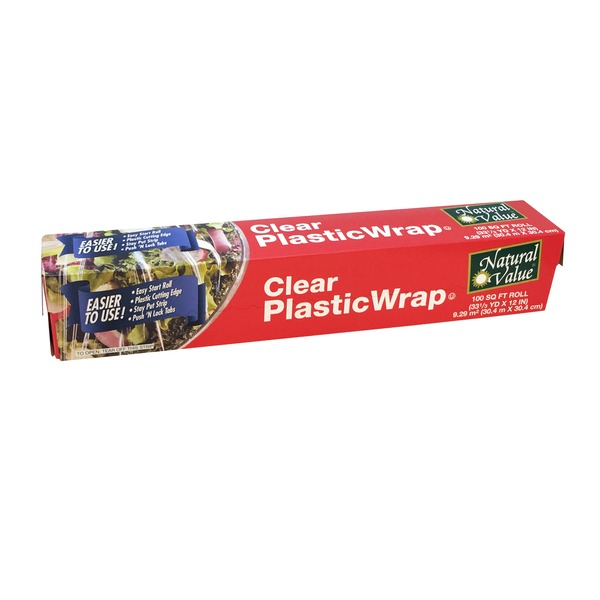 Natural Value Clear Plastic Wrap