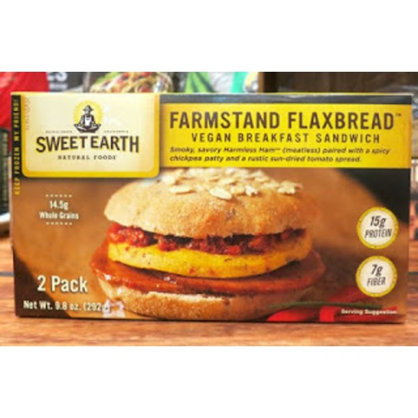 Sweet Earth Farmstand Flaxbread Breakfast Sandwich