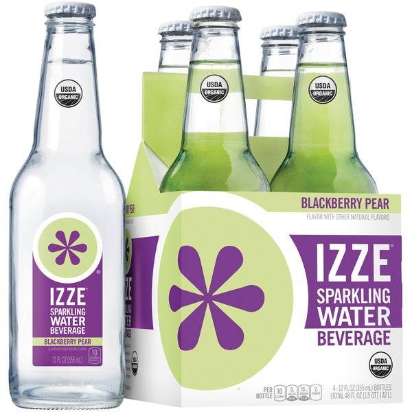 Izze Blackberry Pear Sparkling Water Beverage