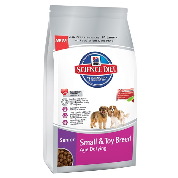 Hill's Science Diet Small & Toy Breed Age Defying Adult 11+ Chicken Meal, Rice & Barley Recipe Premium Natural Dog Food