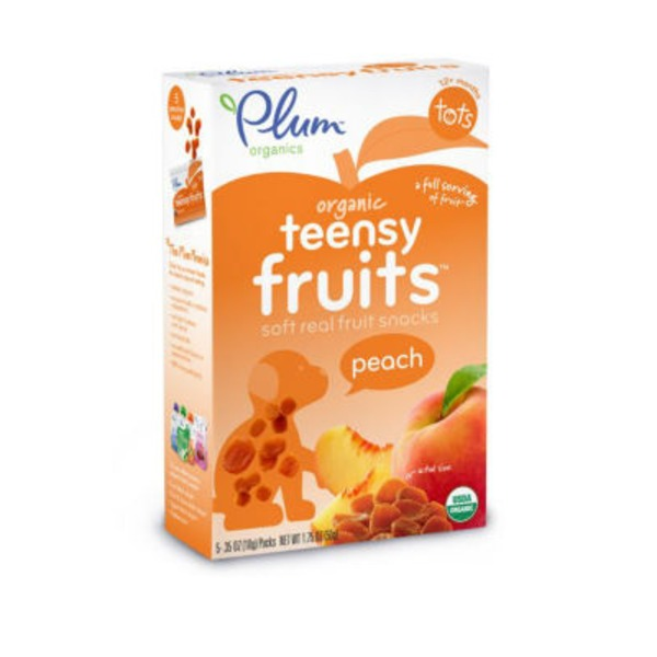 Plum Tots Teensy Fruits Peach Soft Real Fruit Snacks