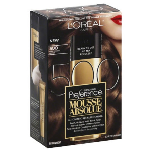 Superior Preference Mousse Absolue Pure Medium Brown 500 Hair Color